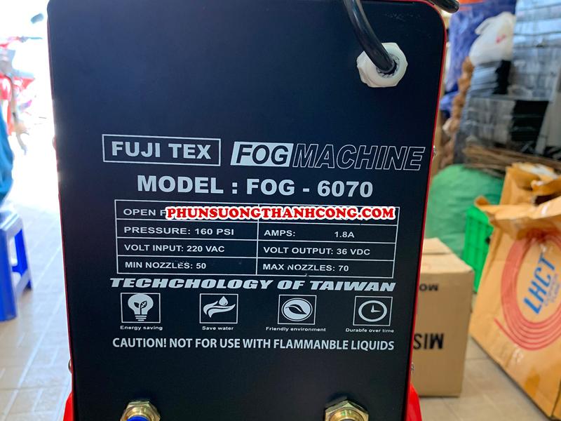 Địa chỉ lắp đặt máy phun sương FUJITEX FOG 6070 giá rẻ tại TPHCM