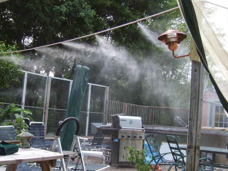 Quy trình lắp máy phun sương quán cafe
