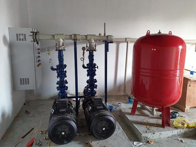 quy trình lắp đặt máy bơm nước tăng áp
